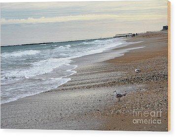 Dreamy Ocean Beach North Carolina Coastal Beach  Wood Print by Kathy Fornal