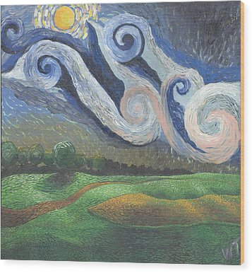 'dreamy Sky' Wood Print