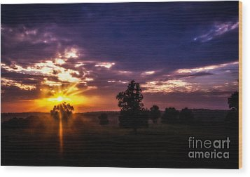 Dreamy Sunset Wood Print by Julie Clements