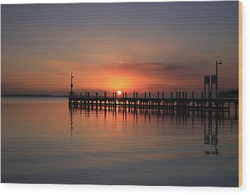 Wood Print featuring the photograph Dreamy Sunset by Kim Andelkovic