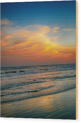 Dreamy Texas Sunset Wood Print by Kristina Deane