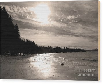 Dreamy Tides Wood Print