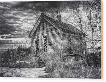 Dreary Dark And Gloomy Wood Print