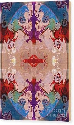 Drenched In Awareness Abstract Healing Artwork By Omaste Witkows Wood Print by Omaste Witkowski