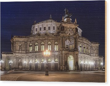 Dresden Semperopera Wood Print by Steffen Gierok