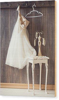Dress Wood Print by Amanda Elwell
