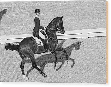 Dressage Une Noir Wood Print by Alice Gipson