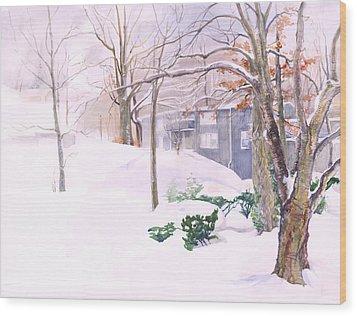 Dressed In Winter White Wood Print by Nancy Watson