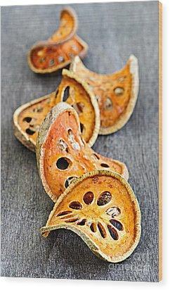 Dried Bael Fruit Wood Print by Elena Elisseeva