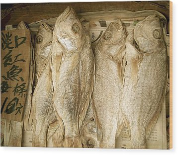 Wood Print featuring the photograph Dried Fish by Colleen Williams