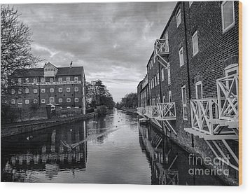 Driffield Refurbished Canal Basin Wood Print