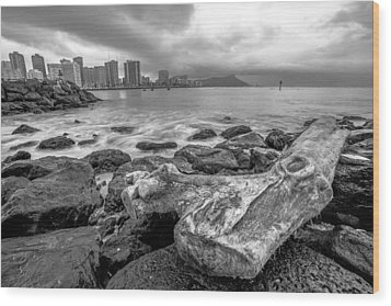 Wood Print featuring the photograph Drift Wood by Robert  Aycock