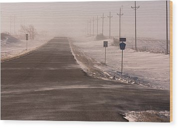 Drifting County 23 Wood Print by Wayne Vedvig