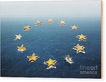 Drifting Europe Wood Print by Carlos Caetano