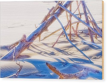 Wood Print featuring the photograph Driftwood 1 by Adria Trail
