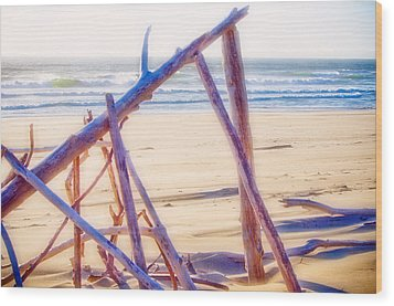 Wood Print featuring the photograph Driftwood 2 by Adria Trail