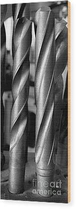 Drills Wood Print by Steven Ralser