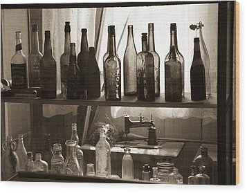 Wood Print featuring the photograph Drink And Sew by Jim Snyder