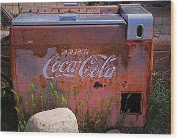 Drink Coca Cola Wood Print by Lynn Sprowl