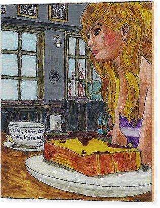 Drink Coffee Wood Print