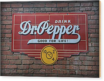 Drink Dr. Pepper - Good For Life Wood Print by Stephen Stookey