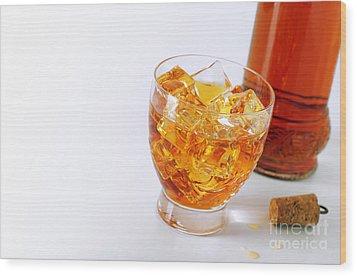 Drink On The Rocks Wood Print by Carlos Caetano
