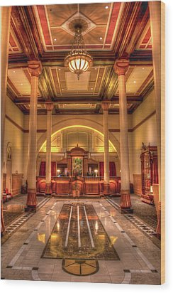 Wood Print featuring the photograph Driskill Hotel Check-in by Tim Stanley