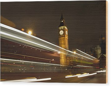 Drive By Ben - England Wood Print by Mike McGlothlen