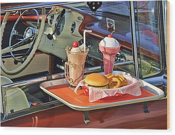 Drive-in Memories Wood Print by Kenny Francis