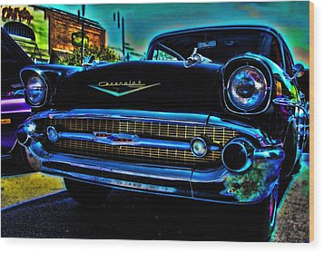 Drive In Special Wood Print by Lesa Fine