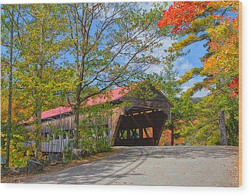 Drive In To Albany Covered Bridge #49 Wood Print by Shell Ette