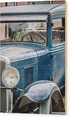 Wood Print featuring the photograph Drive Into The Past With A Chevy by Dawn Romine
