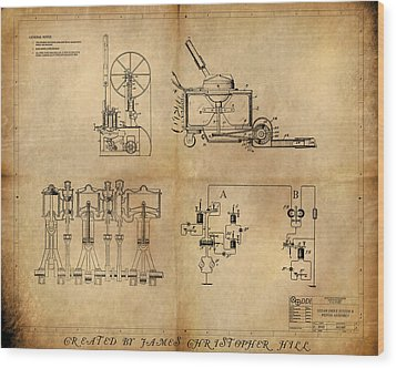 Drive System Assemblies Wood Print by James Christopher Hill