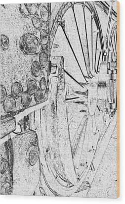 Drive Wheels Dm  Wood Print