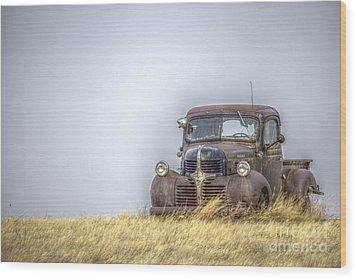 A Rusty Abandoned Truck Near Sturgis South Dakota Wood Print