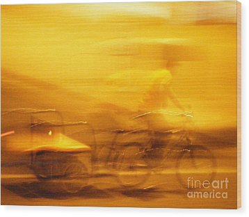 Wood Print featuring the photograph Driver by Lin Haring