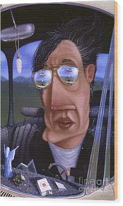 Driving 1995 Wood Print by Larry Preston
