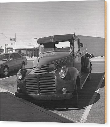 Driving A Relic - Film Wood Print by Greg Larson