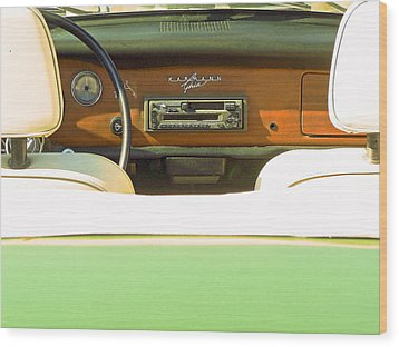 Driving With The Top Down Wood Print