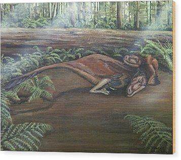 Dromaeosaurus Wood Print by Tristan Roberts