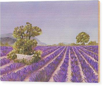 Drome Provence Wood Print by Anastasiya Malakhova