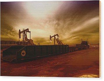 Dropping A Tank Wood Print by Jeff Swan