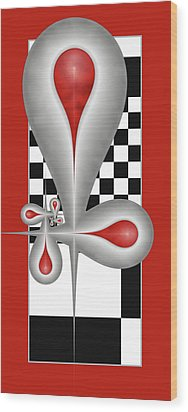 Wood Print featuring the digital art Drops On A Chess Board by Gabiw Art