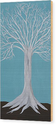 Druid Tree 2 Wood Print by Maura Satchell