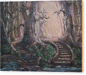 Wood Print featuring the painting Druid Walk by Megan Walsh