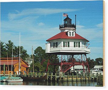 Drum Point Lighthouse Wood Print