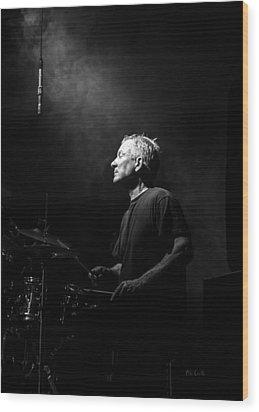 Drummer Portrait Of A Muscian Wood Print by Bob Orsillo
