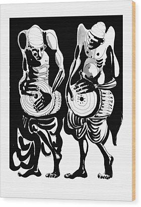 Drummers Wood Print by Vadim Vaskovsky