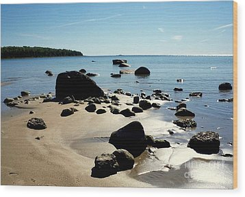 Drummond Shore 2 Wood Print by Desiree Paquette