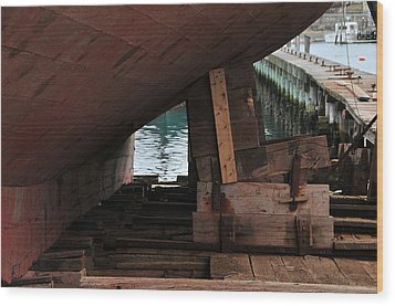 Dry-dock Wood Print by Mike Martin